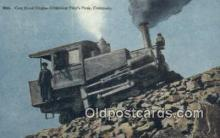 trn001723 - Cog Road Engine , Pikes Peak, Colorado, CO USA Trains, Railroads Postcard Post Card Old Vintage Antique