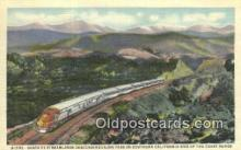 trn001740 - Santa Fe Streamliner, Southern California, CA USA Trains, Railroads Postcard Post Card Old Vintage Antique