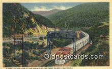 trn001741 - Cajon Pass, Coast Range, California, CA USA Trains, Railroads Postcard Post Card Old Vintage Antique