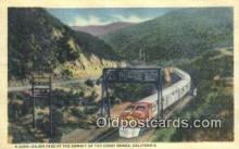 trn001742 - Cajon Pass, Coast Range, California, CA USA Trains, Railroads Postcard Post Card Old Vintage Antique