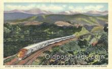 trn001743 - Santa Fe Streamliner, Cajon Pass, California, CA USA Trains, Railroads Postcard Post Card Old Vintage Antique