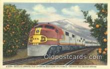 trn001745 - Santa Fe Streamliner, Orange Groves, California, CA USA Trains, Railroads Postcard Post Card Old Vintage Antique