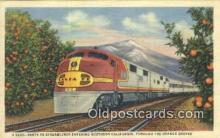 trn001747 - Santa Fe Streamliner, Orange Groves, California, CA USA Trains, Railroads Postcard Post Card Old Vintage Antique