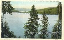 trn001750 - Chicago Milwaukee and St Paul Pacific Railroad, Lake Chatcolet, Idaho, ID USA Trains, Railroads Postcard Post Card Old Vintage Antique