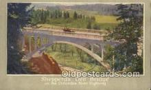 trn001752 - Shepperds Dell Bridge Union Pacific System Trains, Railroads Postcard Post Card Old Vintage Antique
