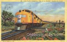 trn001758 - Union Pacific Streamliner, City Of Los Angeles, California, CA USA Trains, Railroads Postcard Post Card Old Vintage Antique