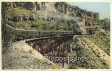 trn001760 - Santa Fe Train, Johnsons Canyon, Arizona, AZ USA Trains, Railroads Postcard Post Card Old Vintage Antique