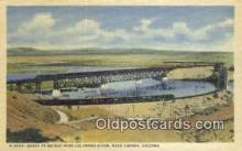 trn001761 - Santa Fe Bridge Over Colorado River, Topock, Arizona, AZ USA Trains, Railroads Postcard Post Card Old Vintage Antique