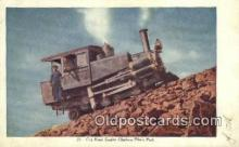 trn001770 - Cog Road Engine, Pikes Peak, Colorado, CO USA Trains, Railroads Postcard Post Card Old Vintage Antique