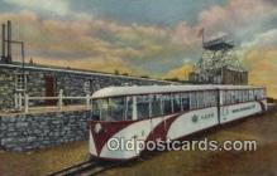 trn001774 - Streamline Cog Train, old summit House, Pikes Peak, Colorado, CO USA Trains, Railroads Postcard Post Card Old Vintage Antique
