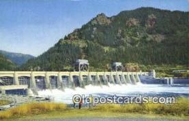 trn001778 - Bonneville Dam, Portland, Oregon, OR USA Trains, Railroads Postcard Post Card Old Vintage Antique