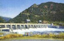 trn001779 - Bonneville Dam, Portland, Oregon, OR USA Trains, Railroads Postcard Post Card Old Vintage Antique