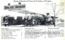 trn001789 - The Royal Scot, The Burlington Train and, The pride Of The Prairies Trains, Railroads Postcard Post Card Old Vintage Antique