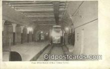 trn001796 - Court Street Station, East Boston Tunnel, Boston, Massachusetts, MA USA Trains, Railroads Postcard Post Card Old Vintage Antique