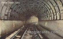 trn001797 - Hudson Tunnel Curve, South Tunnels Under Hudson River, New York, NY USA Trains, Railroads Postcard Post Card Old Vintage Antique