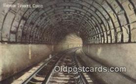 trn001797 - Hudson Tunnel Curve, South Tunnels Under Hudson River, New York, NY USA Trains, Railroads Postcard Post Card Old Vintage Antique