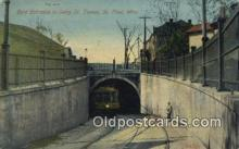 trn001799 - East Entrance To Selby St Tunnel, St Paul, Minnesota, MN USA Trains, Railroads Postcard Post Card Old Vintage Antique