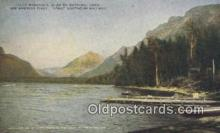 trn001801 - Lake McDonald, Glacier National Park, USA Trains, Railroads Postcard Post Card Old Vintage Antique