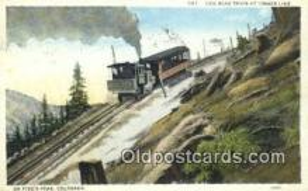 trn001806 - Cog Road At Timber Line, Pikes Peak, Colorado, CO USA Trains, Railroads Postcard Post Card Old Vintage Antique