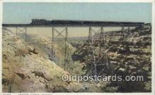trn001809 - Canyon Diablo, Arizona, AZ USA Trains, Railroads Postcard Post Card Old Vintage Antique