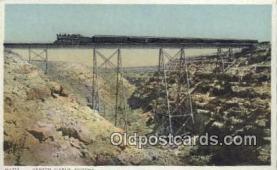 trn001809 - Canyon Diablo, Arizona, AZ USA Trains, Railroads Postcard Post Card Old Vintage Antique