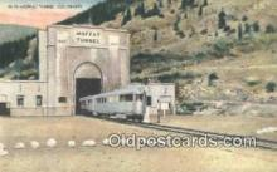 trn001811 - Moffat Tunnel, Colorado, CO USA Trains, Railroads Postcard Post Card Old Vintage Antique