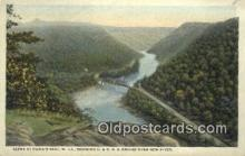 trn001830 - Hawks Nest, West Virginia, WV USA Trains, Railroads Postcard Post Card Old Vintage Antique