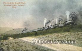 trn001837 - Denver and Rio Grande Train, Soldier Summit, Utah, UT USA Trains, Railroads Postcard Post Card Old Vintage Antique