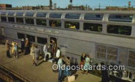 trn001838 - Hi Level Dome Car, El Capitan, Los Angeles, California, CA USA Trains, Railroads Postcard Post Card Old Vintage Antique