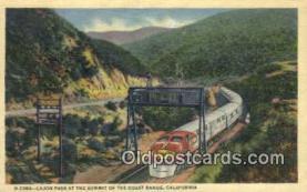 trn001841 - Cajon Pass, Coast Range, California, CA USA Trains, Railroads Postcard Post Card Old Vintage Antique