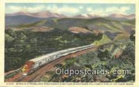 trn001846 - Santa Fe Streamliner, Cajon Pass, California, CA USA Trains, Railroads Postcard Post Card Old Vintage Antique