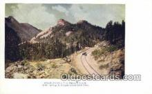 trn001851 - Rounding The Devils Slide, Colorado Springs, Colorado, CO USA Trains, Railroads Postcard Post Card Old Vintage Antique