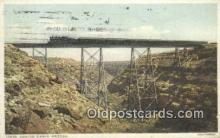 trn001852 - Canyon Diablo, Arizona, AZ USA Trains, Railroads Postcard Post Card Old Vintage Antique