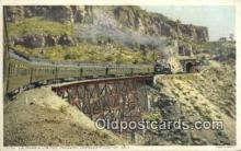 trn001853 - California Limited, Johnsons Canyon, Arizona, AZ USA Trains, Railroads Postcard Post Card Old Vintage Antique