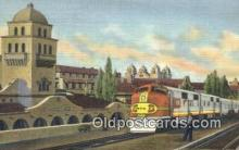 trn001854 - Santa Fe Super Chief, Albuquerque, New Mexico, NM USA Trains, Railroads Postcard Post Card Old Vintage Antique