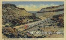 trn001856 - Santa Fe Streamliner, Cozier Canyon, Arizona, AZ USA Trains, Railroads Postcard Post Card Old Vintage Antique