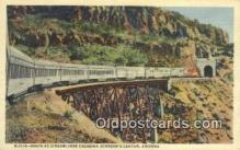 trn001857 - Santa Fe Streamliner, Johnsons Canyon, Arizona, AZ USA Trains, Railroads Postcard Post Card Old Vintage Antique