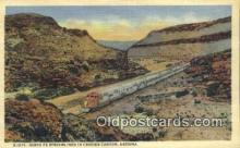 trn001858 - Santa Fe Streamliner, Cozier Canyon, Arizona, AZ USA Trains, Railroads Postcard Post Card Old Vintage Antique
