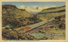 trn001859 - Santa Fe Streamliner, Cozier Canyon, Arizona, AZ USA Trains, Railroads Postcard Post Card Old Vintage Antique