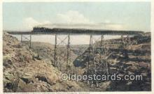 trn001861 - California Limited, Canyon Diablo, Arizona, AZ USA Trains, Railroads Postcard Post Card Old Vintage Antique