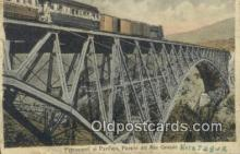 trn001867 - Ferrocarril Al Pacifico, Puente Del Rio Grande Trains, Railroads Postcard Post Card Old Vintage Antique