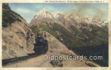 trn001870 - Mt Chancellor, Yoho National Park, British Columbia, BC  Trains, Railroads Postcard Post Card Old Vintage Antique