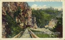 trn001875 - High Cliffs Along The Nor Folk And Western Railroad Trains, Railroads Postcard Post Card Old Vintage Antique