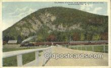 trn001879 - Truman Station and Sugar Loaf Mountain, Warrensburg, New York, NY USA Trains, Railroads Postcard Post Card Old Vintage Antique