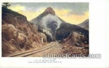 trn001881 - St Peters Dome, Colorado, CO USA Trains, Railroads Postcard Post Card Old Vintage Antique