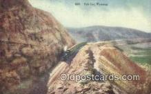 trn001882 - Fish Cut, Wyoming, WY USA Trains, Railroads Postcard Post Card Old Vintage Antique