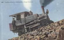 trn001883 - Cog Road Engine Climbing Pikes Peak, Colorado, CO USA Trains, Railroads Postcard Post Card Old Vintage Antique
