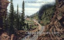 trn001888 - Burro Trail, Pikes Peak, Colorado, CO USA Trains, Railroads Postcard Post Card Old Vintage Antique