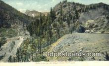 trn001890 - Rock Creek, Cripple Creek, Colorado, CO USA Trains, Railroads Postcard Post Card Old Vintage Antique