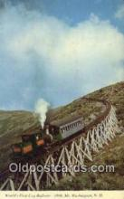 trn001894 - First Cog Railway, Mt Washington, New Hampshire, NH USA Trains, Railroads Postcard Post Card Old Vintage Antique